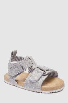 Next Pram Corkbed Grey Sandals (Younger)