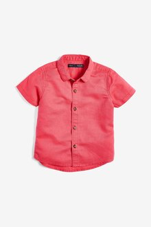 Next Short Sleeve Linen Blend Shirt (3mths-7yrs)