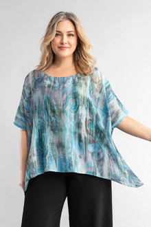Plus Size - Sara Water Print Top