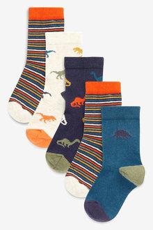 Next Dinosaur Socks Five Pack (Younger)