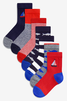 Next Nautical Socks Seven Pack (Younger)