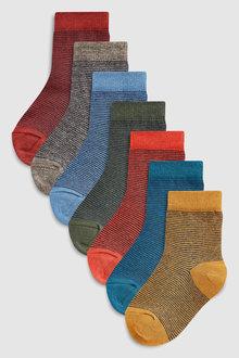 Next Stripe Socks Seven Pack (Younger)