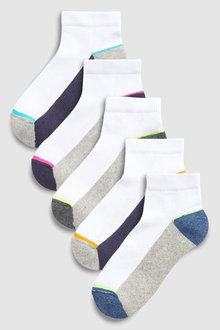 Next Cushioned Footbed Trainer Socks Five Pack (Younger)