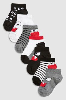 Next Monster Trainer Socks Seven Pack (Younger)