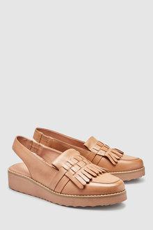 1f8d4a1b476 Next Forever Comfort Leather Fringe EVA Slingbacks