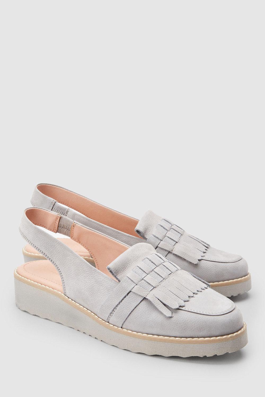 d06a0dda1b2 Next Forever Comfort Leather Fringe EVA Slingbacks Online