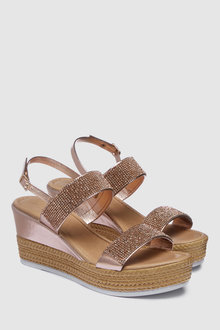 Next Forever Comfort Jewelled Wedges