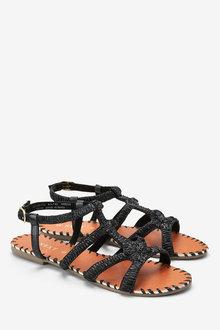 Next Raffia Strappy Sandals