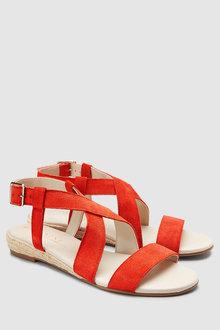 Next Low Wedge Twist Sandals