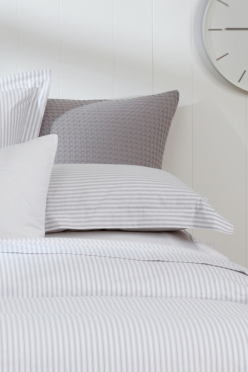 Organic Cotton Ticking Stripe Pillowcase Pair