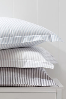 Organic Cotton Ticking Stripe European Pillowcase Pair - 231986