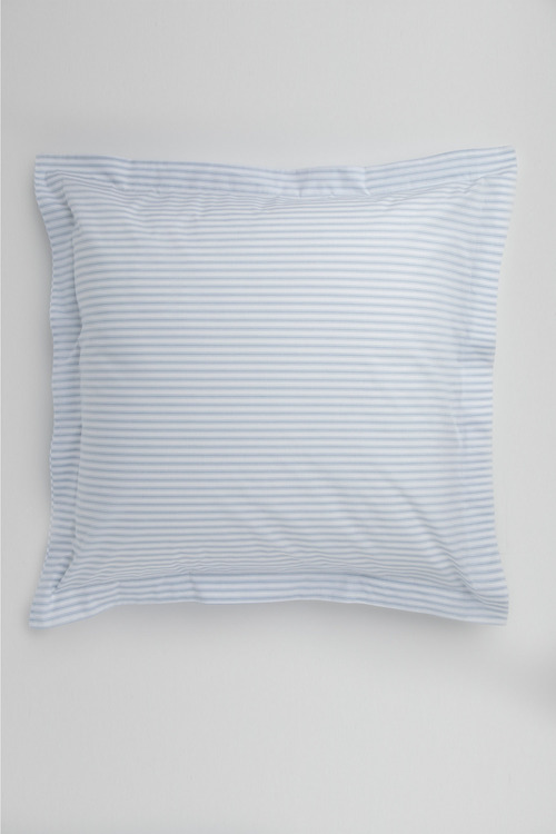Organic Cotton Ticking Stripe European Pillowcase Pair