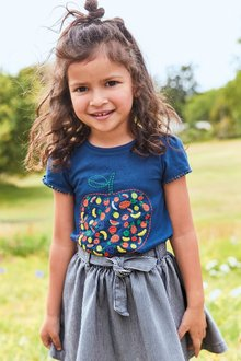 Next Embroidered Fruit Short Sleeve T-Shirt (3mths-7yrs)