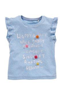 Next Pom Pom Short Sleeve T-Shirt (3mths-7yrs)