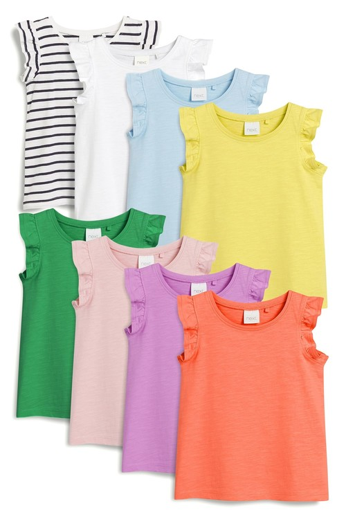 Next Vests Eight Pack (3mths-7yrs)