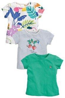 Next Fruit Short Sleeve T-Shirts Three Pack (3mths-7yrs)