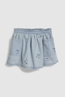 Next Floral Embroidered Denim Skirt (3mths-7yrs)