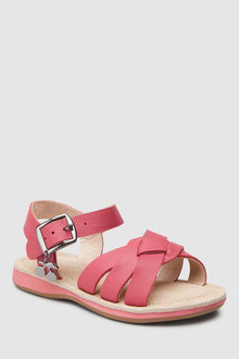 Next Cherry Charm Leather Sandals (Younger)