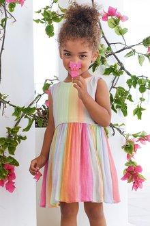 Next Rainbow Stripe Dress (3mths-7yrs)