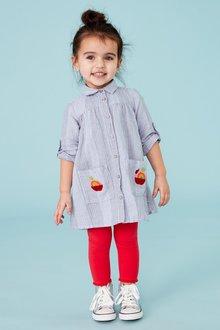 Next Apple Embroidered Shirt Dress (3mths-7yrs)