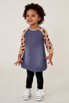 Next Animal Jersey Sleeve Dress (3mths-7yrs)