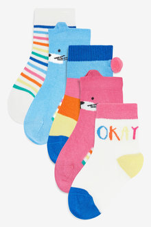 Next Bright Ankle Socks Five Pack (Younger)