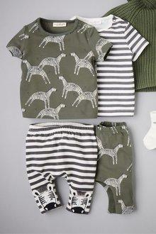 Next Zebra T-Shirts Two Pack (0mths-2yrs)