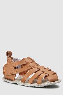 Next Pram Leather Woven Sandals (0-24mths)