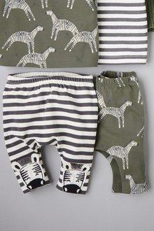 Next Zebra Leggings Two Pack (0mths-2yrs)