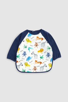 Next Jungle Animal Character Long Sleeved Dribble Proof Bib