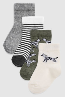 Next Zebra Socks Four Pack (Younger)