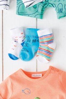 Next Sea Print Socks Three Pack (Younger)
