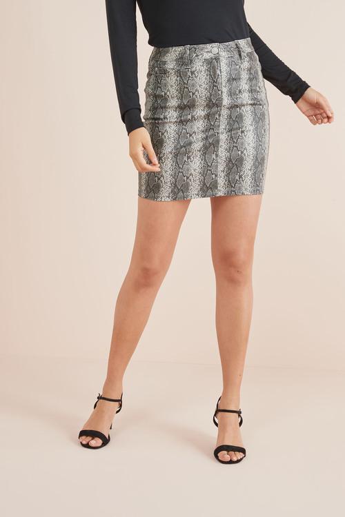 Next Coated Denim Skirt