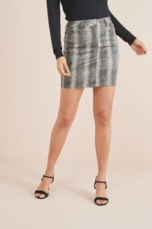 Next Coated Denim Skirt - 232203