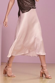 Next Satin Midi Skirt - 232209