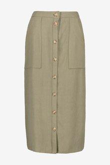 Next Utility Pocket Button Midi Skirt