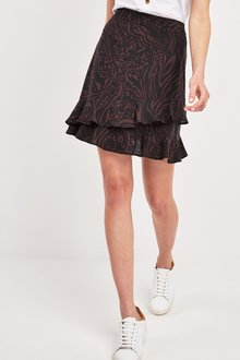 Next Zebra Print Frill Mini Skirt