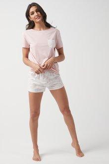 Next Cotton Blend Pyjama Short Set