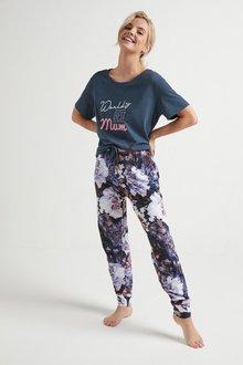 Next World's Best Mum Floral Pyjamas