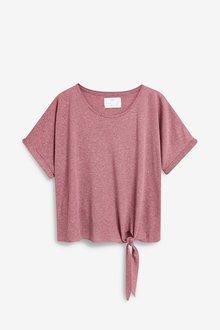 Next Linen Blend Knot T-Shirt