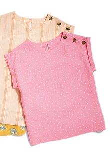 Next Linen Button T-Shirt- Tall