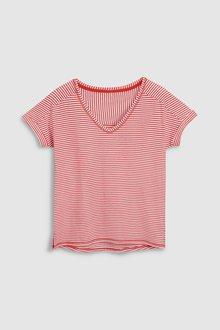 Next Sheer Stripe T-Shirt- Petite