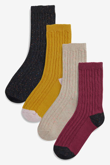 Next Cable Neppy Ankle Socks Four Pack