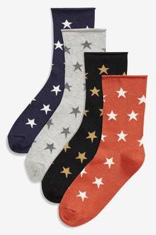 Next Ankle Socks Four Pack