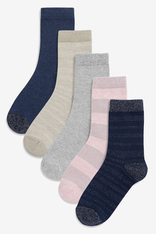 Next Stripe Metallic Socks Five Pack