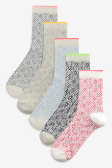 Next Tile Texture Socks Five Pack