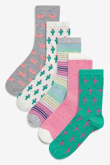 Next Assorted Print Socks Five Pack