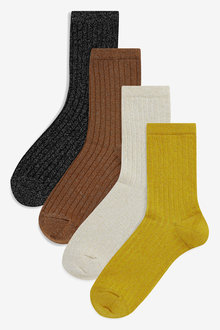 Next Metallic Rib Socks Four Pack