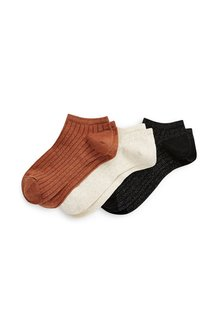 Next Metallic Thread Rib Trainer Socks Three Pack