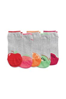 Next Fruit Heel Toe Trainer Socks Five Pack